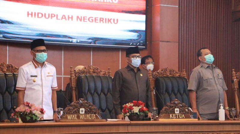 DPRD Kota Depok Menggelar Rapat Paripurna Pandangan Umum Fraksi Terhadap Tiga RAPERDA